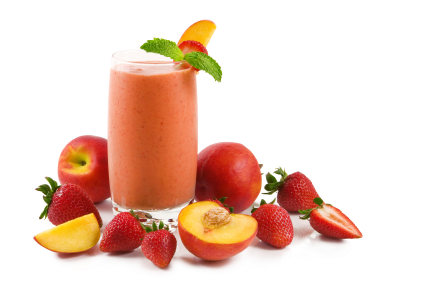strawberry peach protein shake